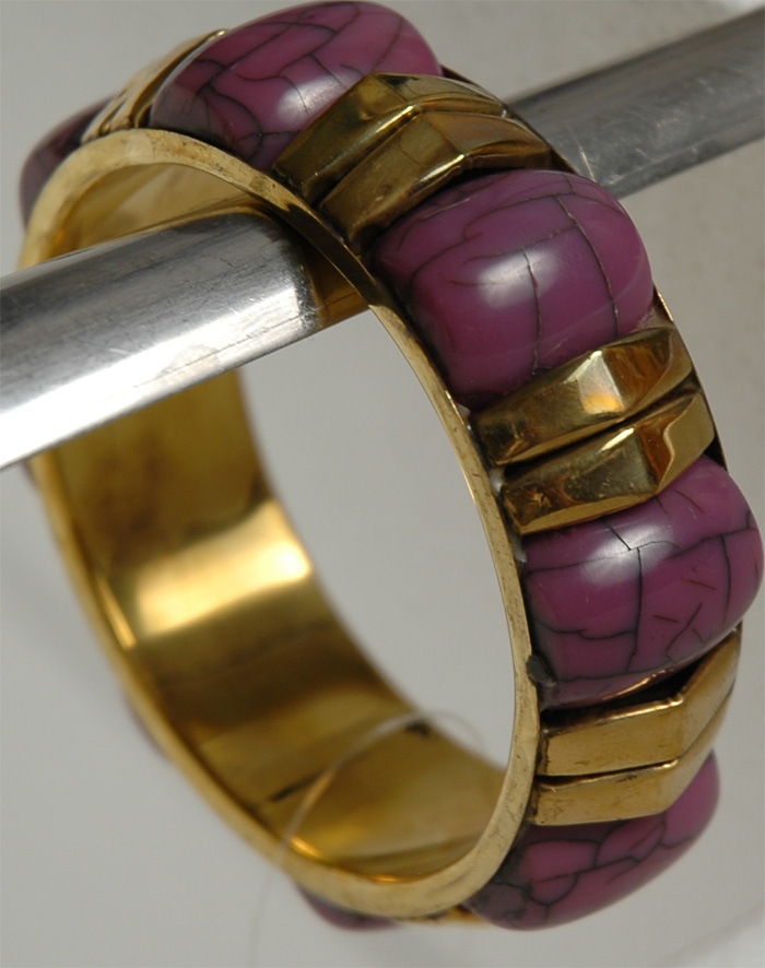 Purple Stone Kada, Purple Gold Bracelet