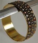 Tribal Metal Rings Bracelet [3504]