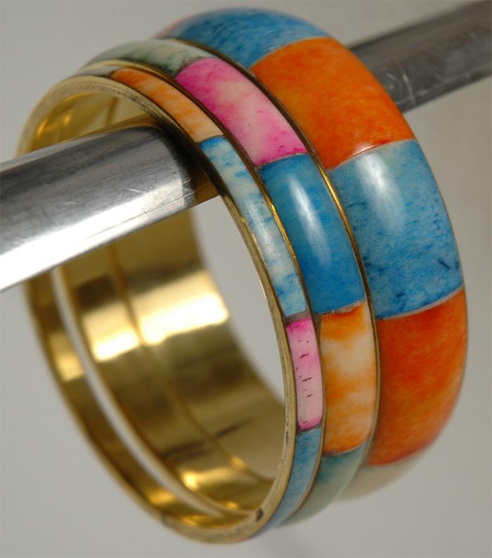 Colorful Three Bracelet Set, Three Rings Colors Bracelet