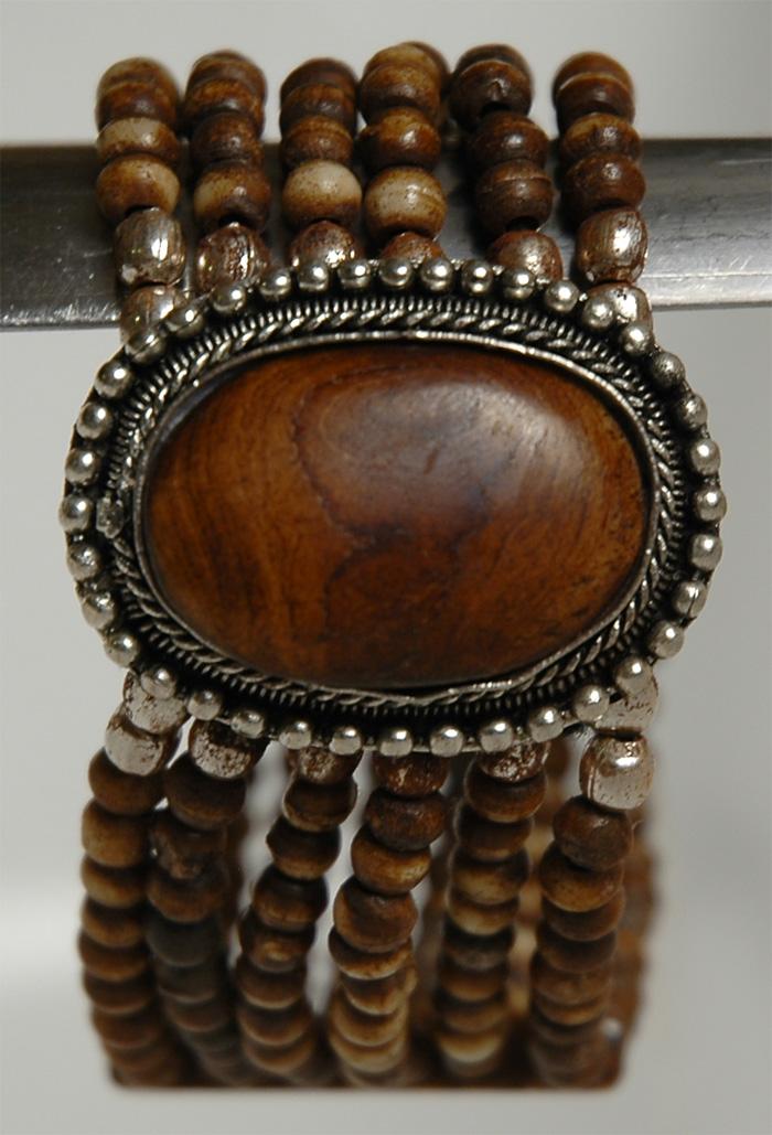 Wood Beads Bracelet, Wood Pendant Beads Bracelet