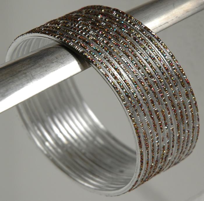 Silver Metal Bracelet, Silver Streak Bracelet Set