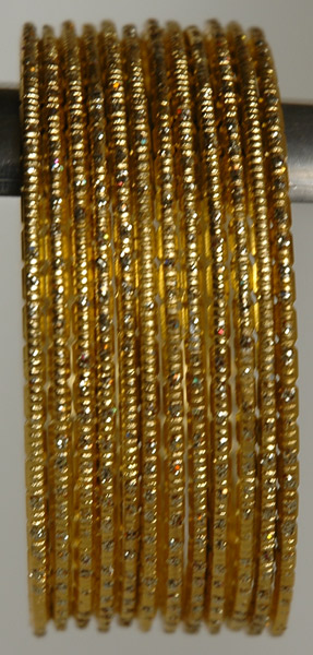 Gold Streak Bracelet Set