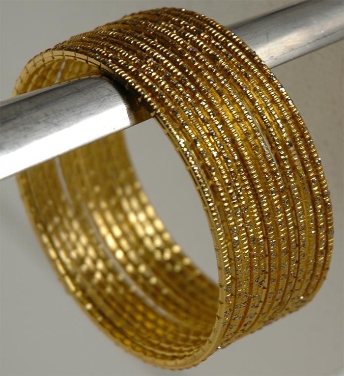 Gold Metal Bracelet, Gold Streak Bracelet Set