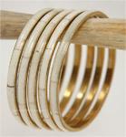 White and Golden Bracelets [4514]