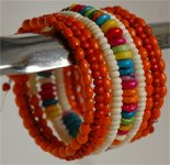 Orange Glamor String Fashion Bracelet