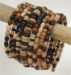 Natural Wood Look Statement Bracelet