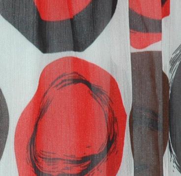 Summer Chiffon Red Black Polka Dress