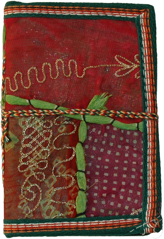 Handmade Paper Ethnic Cover Travel Notebook, Sequin Patchwork Handmade Paper Notebook Diary Medium