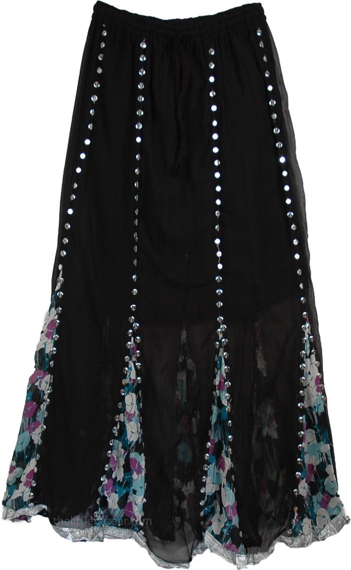 Black Bohemian Skirt 70
