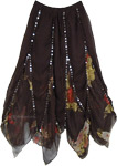 Bohemian Scallops Black Skirt