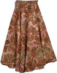 XXS Cotton Beaded Long Skirt