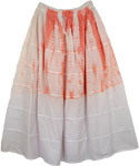 Orange Apricot Tie Dye Skirt