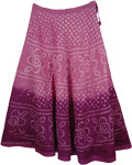 Violet Purple Tie Dye Long Skirt