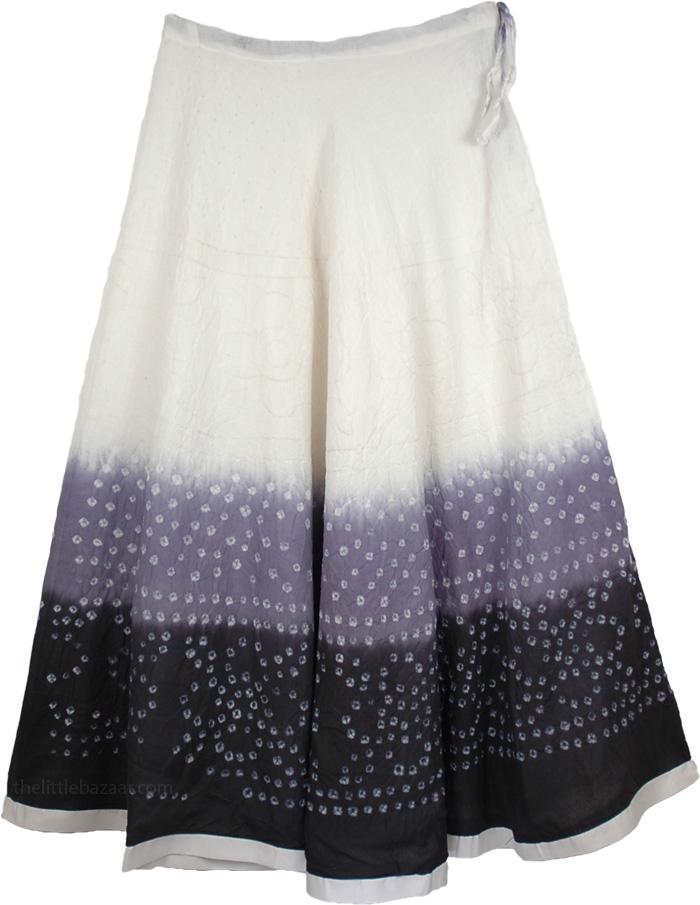 black white tie dye skirt clearance sale on bags