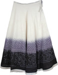 White Gray Black Tie Dye Skirt