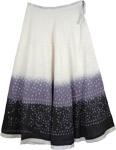 White Gray Black Tie Dye Skirt
