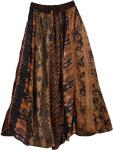 Designer Panel Gypsy Long Skirt