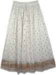 Crinkle Holiday White Skirt