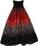 Black Mosaic Smock Boho Skirt