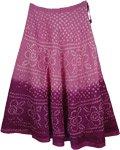 Violet Purple Tie Dye Long Skirt