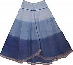 Blue Hues Flamingo Skirt w/ Sequins