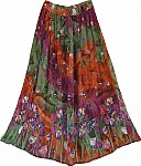 Mixed Terracotta Poppy Skirt