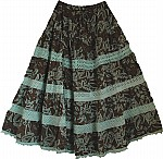 Cocoa Brown Cotton Skirt