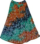 Viridian Copper Long Skirt