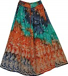 Tricolor Shaded Party Skirt