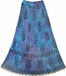 Boho Summer Blue Skirt