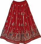 Tamarillo Sequin Dance Skirt
