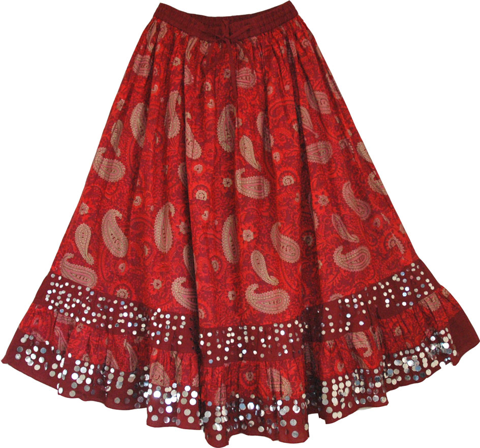 Thunderbird Paisley Long Skirt