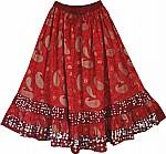 Thunderbird Paisley Long Skirt