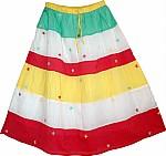 Cotton Pastel Long Skirt