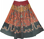 Graphic Tribal Earthy Skirt
