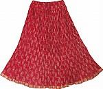 Dark Pink Short Crinkle Skirt