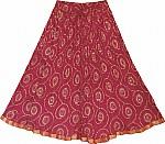 Flushed Chakra Ethnic Skirt