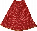 Alizarin Crimson Fiesta Summer Skirt