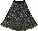 Black Golden Short Crinkle Skirt