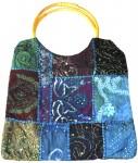 Blue Bohemian Indian  Shoulder Purse Bag