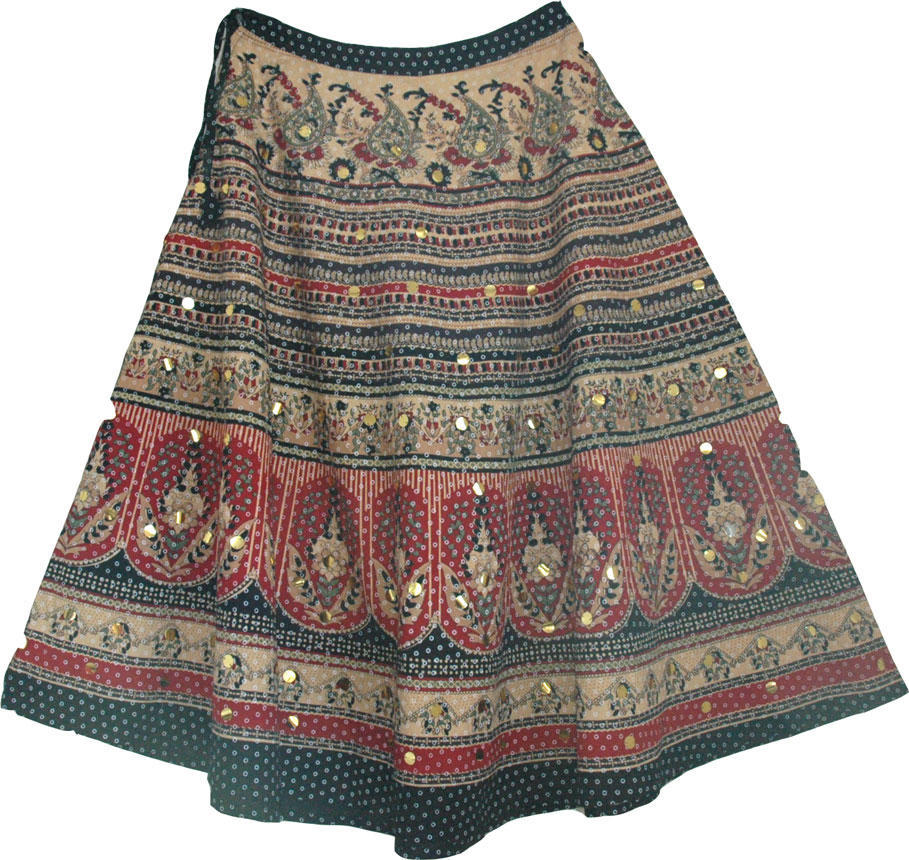 Circular hem ethnic skirt, Ethnic Printed Long Skirt