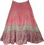 Pink Tie Dye Silk Skirt