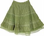 Asparagus Short Skirt