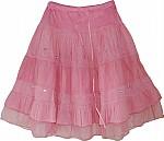 Oriental Pink Short Skirt