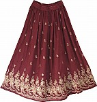Bordeaux Golden Fashion Skirt