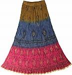 Boho Hippie Broomstick Skirt
