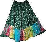 Green Skirt Ethnic