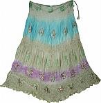 Hippie Gypsy Boho Silk Skirt
