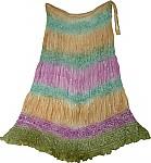 Indian Tie Dye Silk Skirt