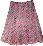 Pink Skirt in Pure Silk